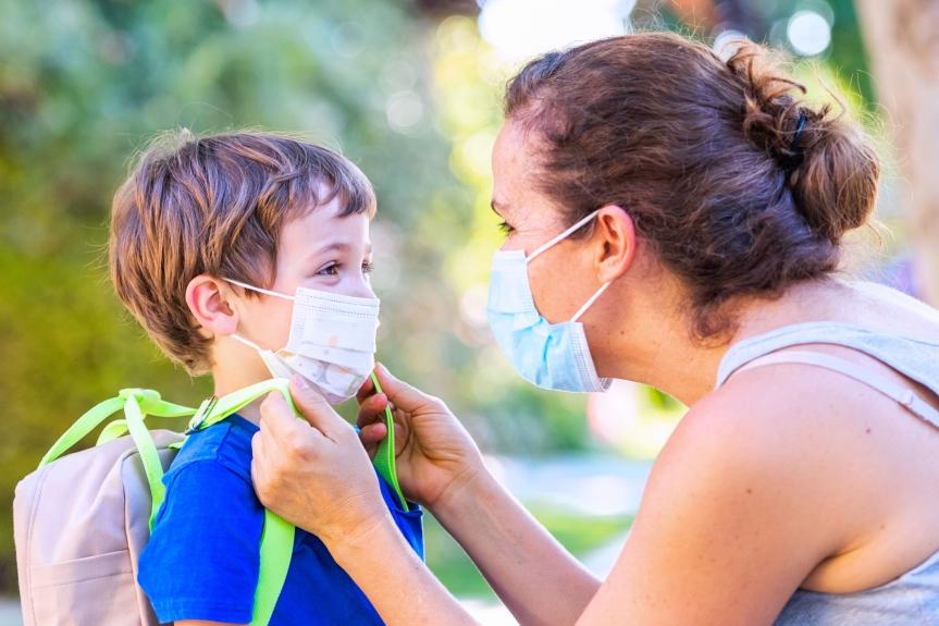 Dangerous pathogens found on children's facemasks